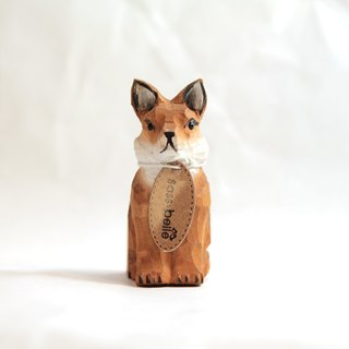 SUSS-UK vintage handmade wood carving pencil sharpener / pencil sharpener (fox shape) - spot