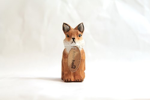 SUSS-British vintage hand-carved wood cutting pencil / pencil sharpener (fox modeling) --- Free Shipping