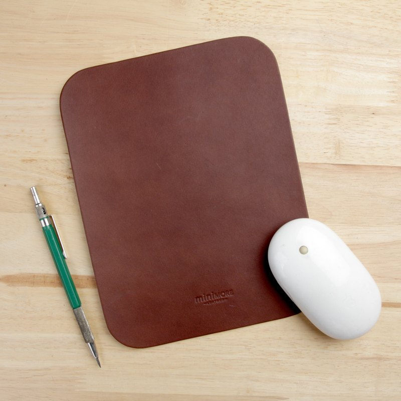 Leather Mouse Pad Handmade Vegetable Tanned Leather