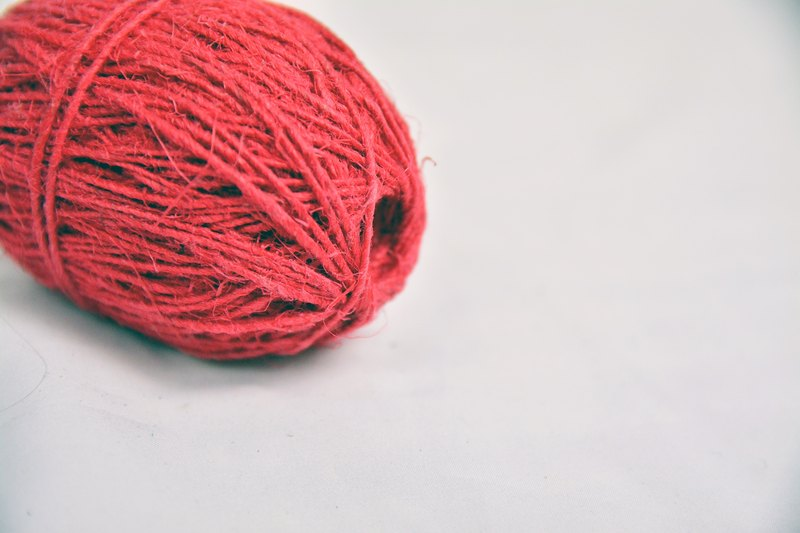 Hemp twine-red-fair trade
