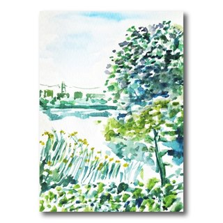 [Local] Chungli Taiwan. Dream Lake - hand-painted postcard sets