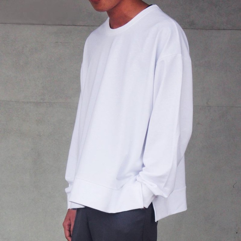 hao Loose Cotton Sweatshirt 薄款落肩開衩衛衣