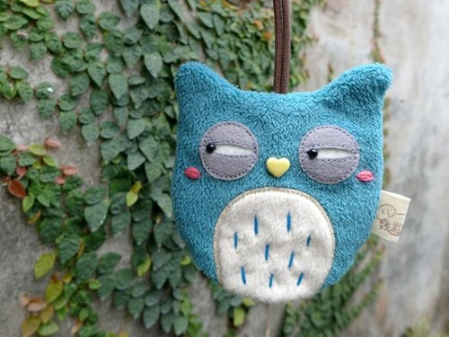 Owl Key Case - (Lake Blue Green)