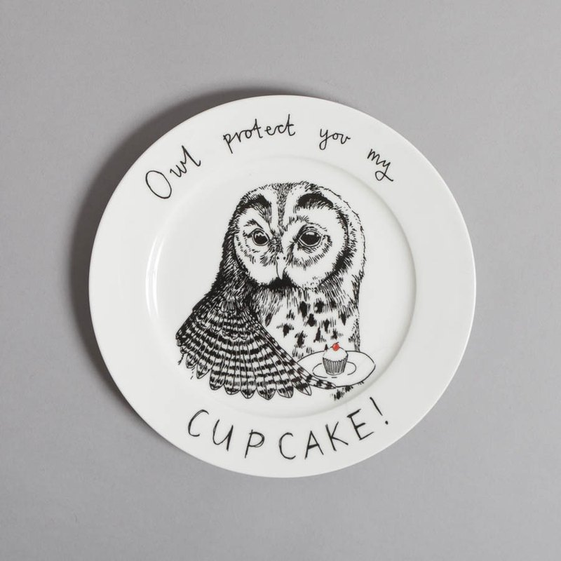 Owl protect you my cupcake 骨瓷餐盤 | Jimbobart