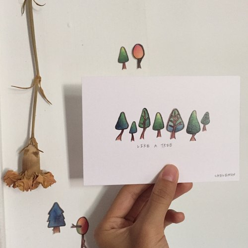 Your most special series tree postcard / Chelemin