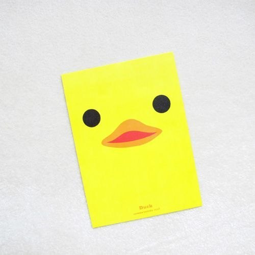 1212 play Design funny postcard - yellow duckling
