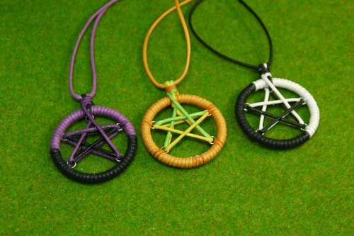 TvT / Pentagram braided rope necklace (no braided paragraph)