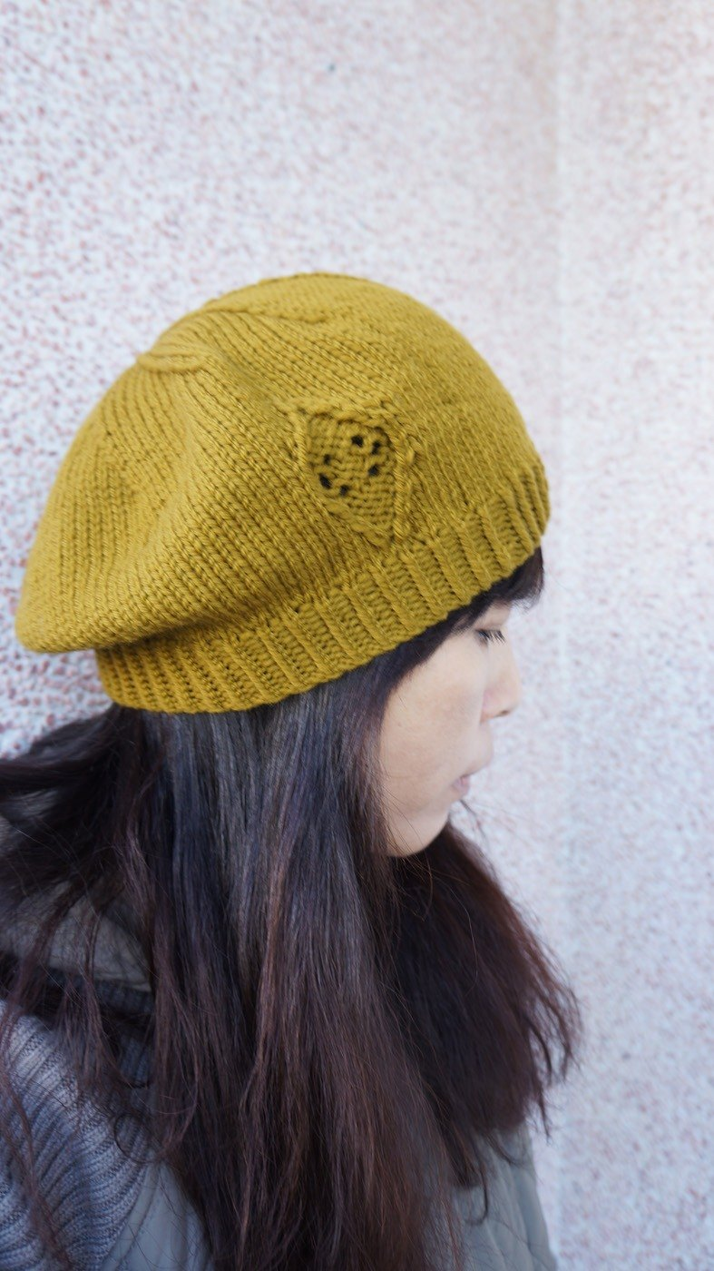Classic beret - woven material package