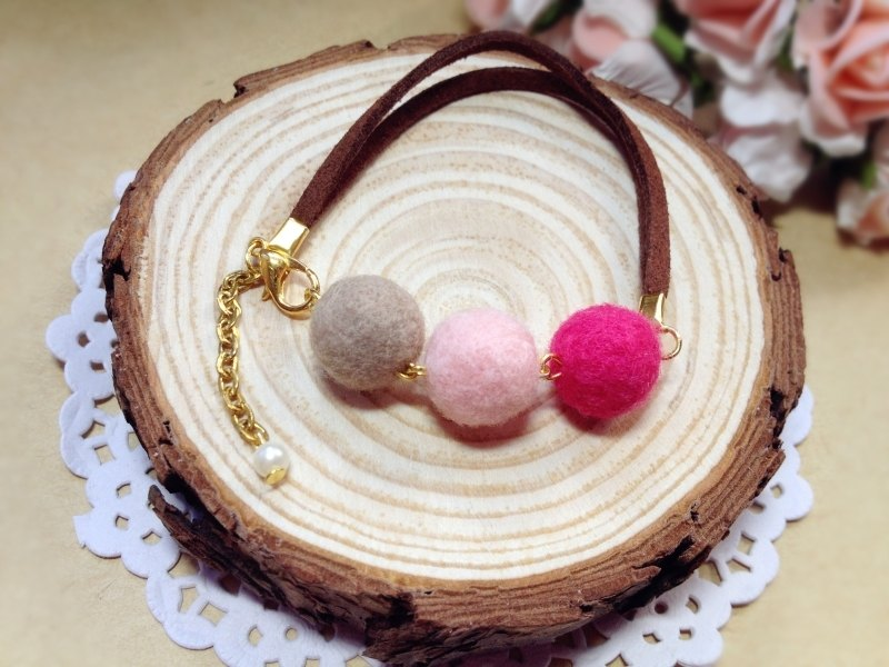 [] Sheep blankets plush cream dream girl sweetheart Wristband Bracelet macarons series pink birthday gift couple gifts handmade exclusive