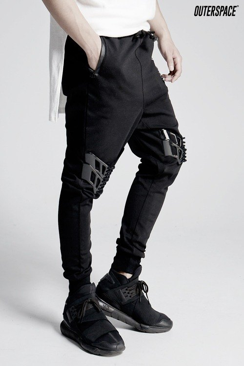 OUTER SPACE lace stitching mouth pants