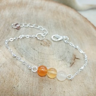 Agate silver plated bracelet