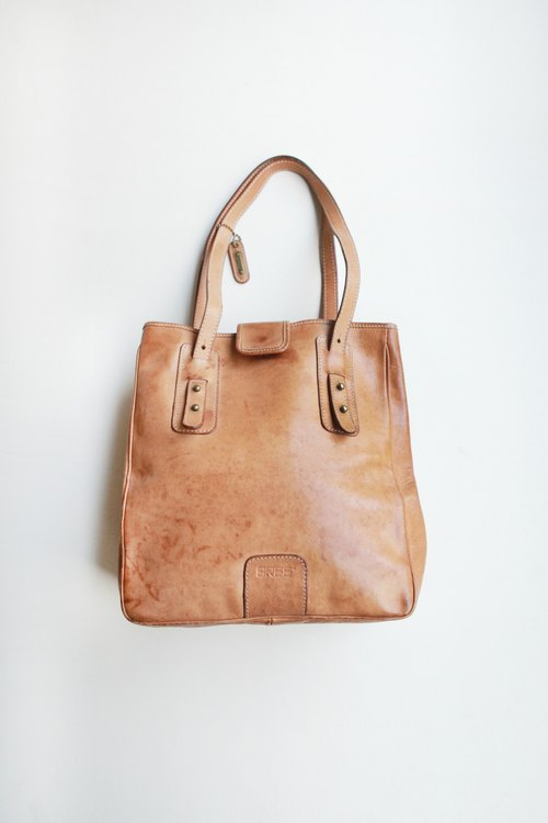 A ROOM MODEL - VINTAGE, BA-0424 BREE brown leather shoulder bag