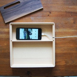 Simple to use - mobile phone charging amplifier storage wooden box