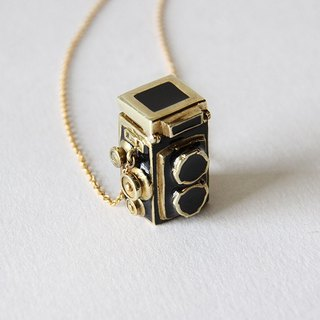 Vintage Twin Lens Reflex Camera Charm Necklace - Locket - Handmade Jewelry - Accessories