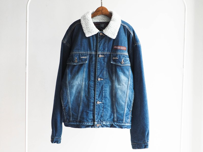 River Hill - edwin song antique winter snow thick lamb's wool denim jacket vintage denim pounds denim vintage oversize
