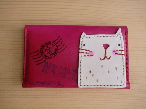 [ISSIS] envelope-type lightweight portable small card holder / card holder - (8) small white collage version