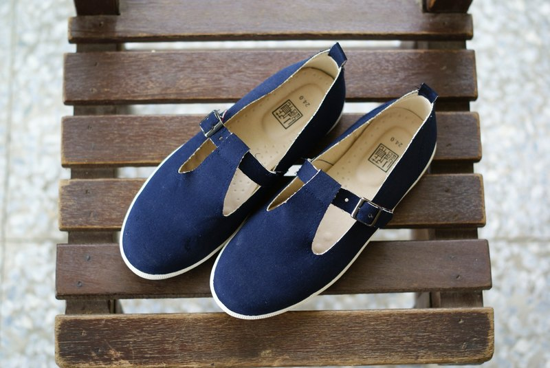 [Jul little surprise: Fate の boots] setting proofing shoes / classic Japanese / classic blue cloth / 24 / only one pair / Concealed red elastic band