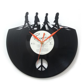 Beatles The Beatles Vinyl Clock
