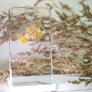 Han Alize - Rapeseed Flower x Baby Breath - Flower Texture Transparent Case