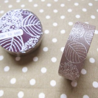 Kurashiki artisan x dot line pattern production site and paper tape [紫阳花-摩卡 (26534-02)]