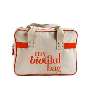 法國my biotiful bag有機棉Boston Bag-Orange