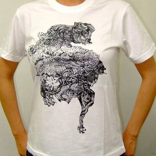 The Significant Travel (combed cotton white T-shirt) L / XL