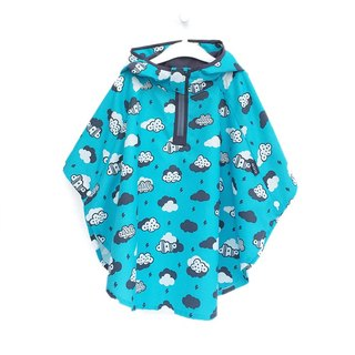 OGG adventure baby adventure cloak x storage bag ♥ rumbling cloud (children raincoat - blue)