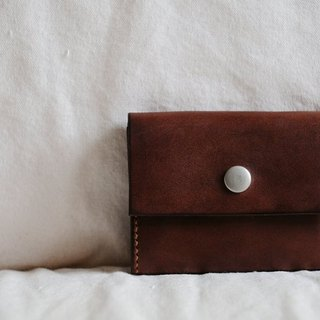 Hand Stitched Dark Brown Leather Wallet