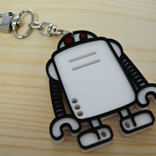 [Followwear] Zig ZZ Robot Necklace / Key Ring Classic Color / Mirror
