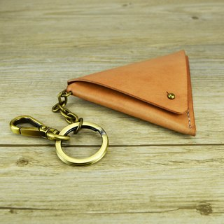 【kuo's artwork】 Hand stitched leather triangle coin pouch