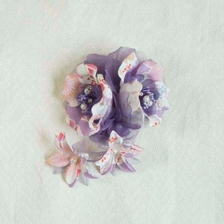 [MITHX] cherry color, flower feast, a small side clip brooch, hairpins, styling hair accessories - Purple