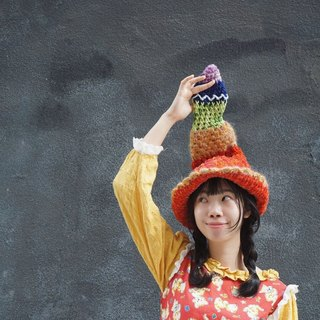· Independent Original Series crocheted a pointy hat color Christmas New Year Christmas gifts