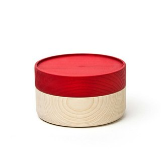 Hata lacquerware shop wooden vessel HAKO S (red)