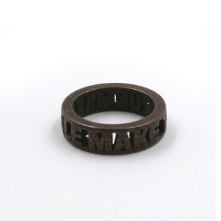 Customized jewelry rings - three-dimensional printing x Block Ring x Personalized