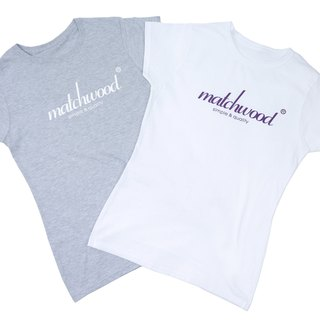 Matchwood Design Matchwood 2015 Limited Edition Classic LogoTee US high comfortable roller short T 100% cotton female version white XS
