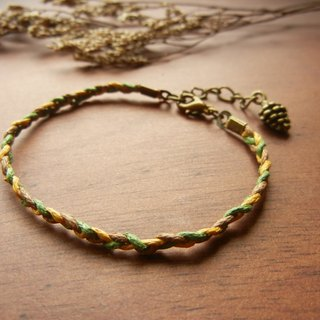 * Coucoubird * earth colors cones / leaf / trojan woven bracelet
