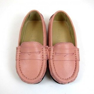Fort Tony Wang leather handmade shoes kids [sheep / soled / pink]
