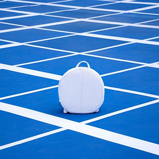 * Make to Order ONLY* Full moon Round Backpack | Soft | White | Minimal | Fresh