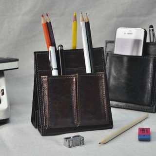 Stand up leather stationery stickers (PU leather version)