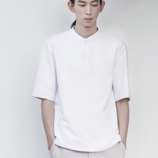 TRAN - Baseball collar POLO shirt