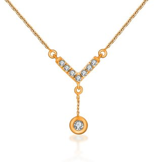 18K GOLD ARROW AND A DROP DIAMOND NECKLACE
