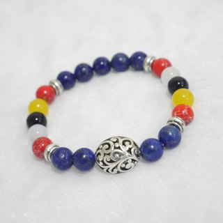S & amp; A Five lucky color beaded bracelet