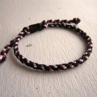 Midnight band round rope lucky rope woven bracelet (optional color)