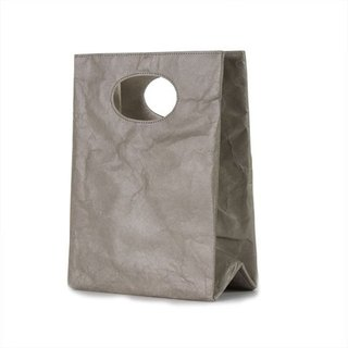 [Tyvek patented paper fiber] Graffiti waterproof dual-purpose bags - silver-gray