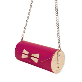 Wooden Cylinder Bag / Cylinder Bag / Wooden Bag / Cross body bag