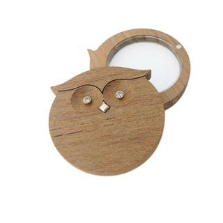 Play wooden silver house as if happen - a magnifying glass