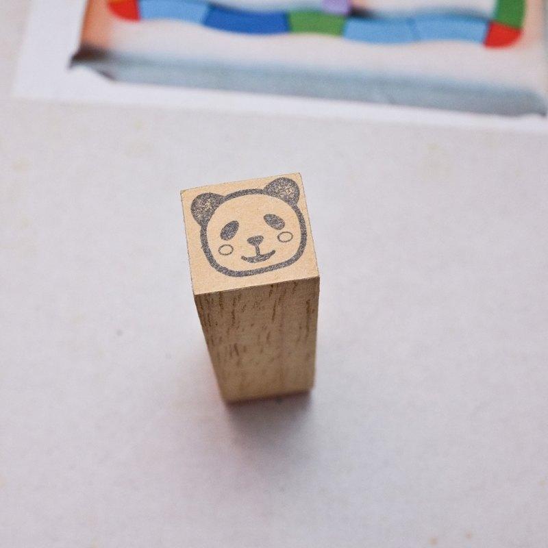 [印章]編號244 動物頭像 熊貓