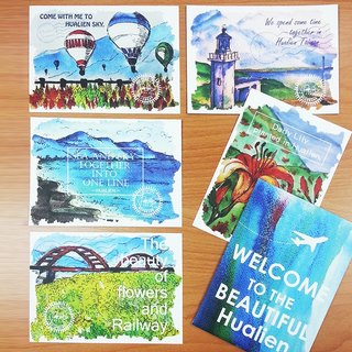 Taiwan Image (Qixingtan Beach, Hualien) – Painted Postcards of Scenic Spots