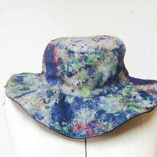 MaryWil Double Sided Head Wear Features A Big Brim-Brush Painting
