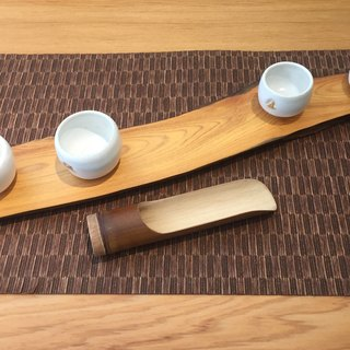Handmade bamboo tea is - Wide mouth section